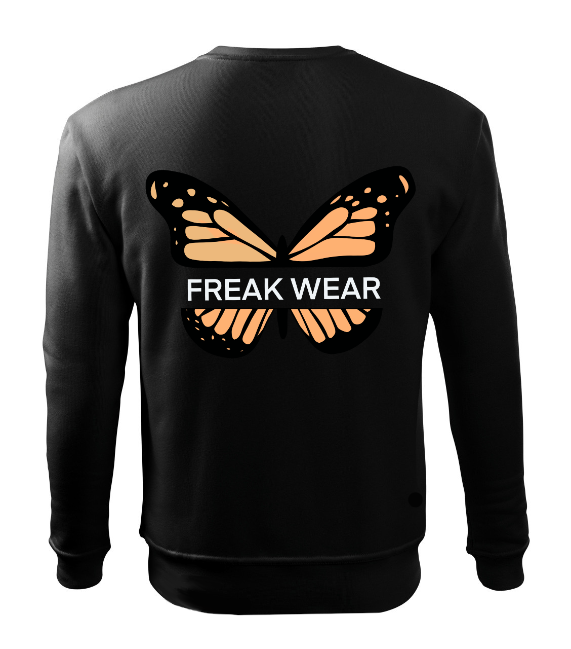 Mikina Freak Wear bez kapuce B orange