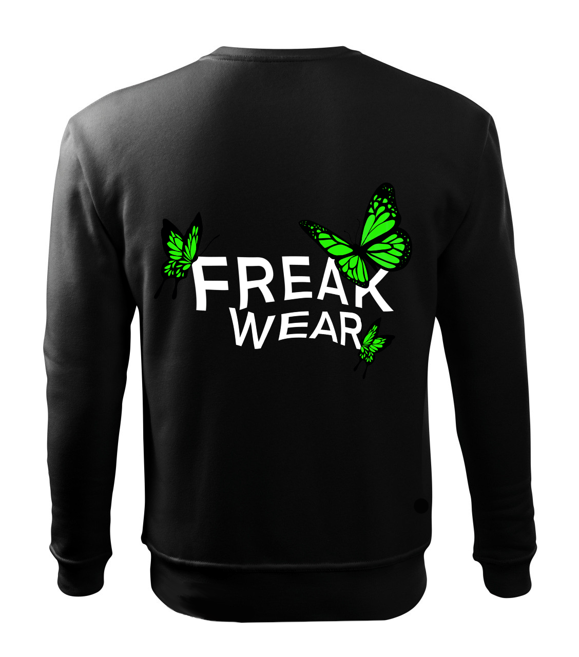Mikina Freak Wear bez kapuce BL green