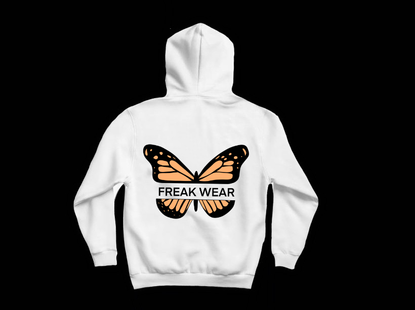 Mikina Freak Wear bílá B orange