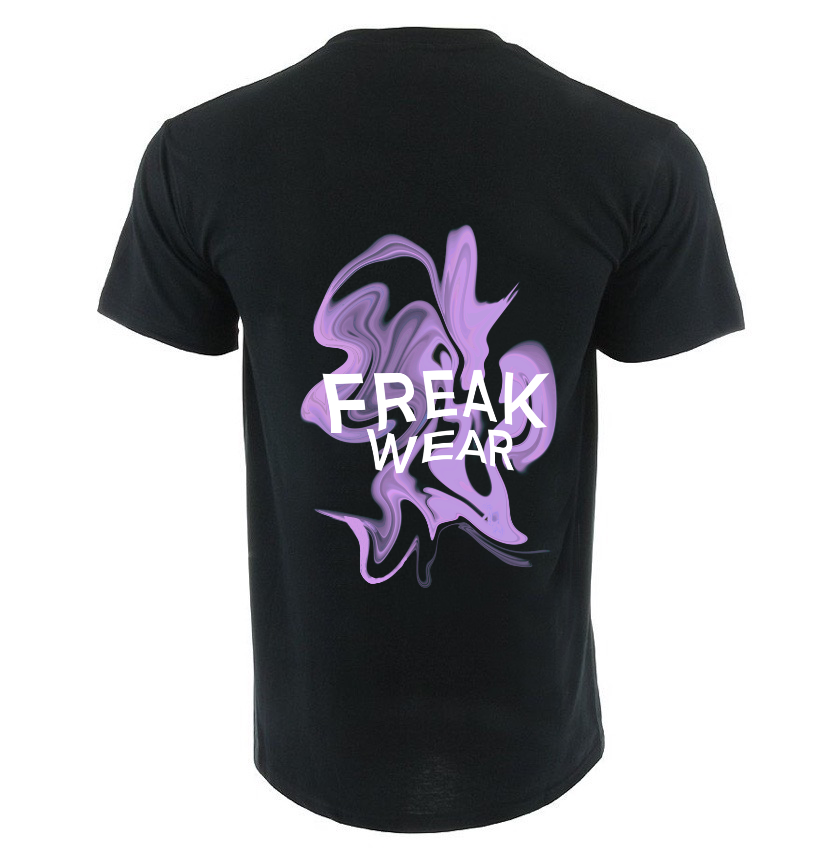 Tričko Freak Wear K light purple černá