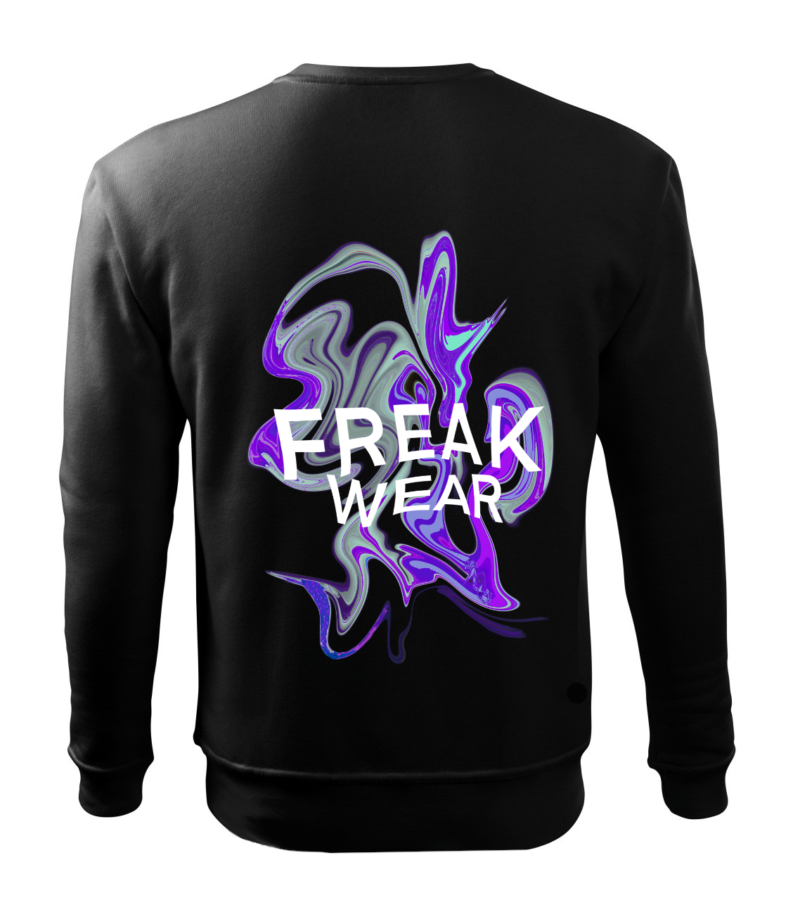 Mikina Freak Wear bez kapuce K silver purple