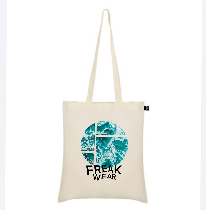 plátěná taška Freak Wear natural ocean