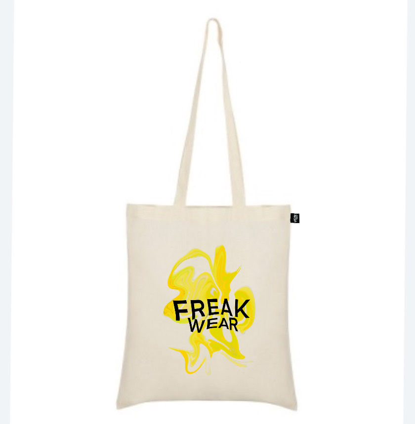 plátěná taška Freak Wear natural K yellow