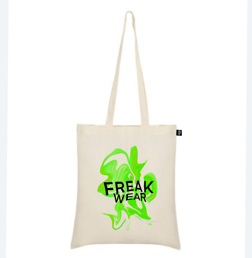 plátěná taška Freak Wear natural K green