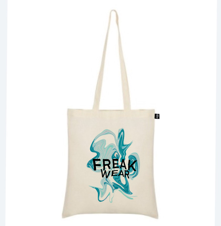 plátěná taška Freak Wear natural K ocean