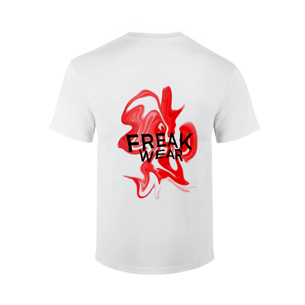 Tričko Freak Wear bíle K Red
