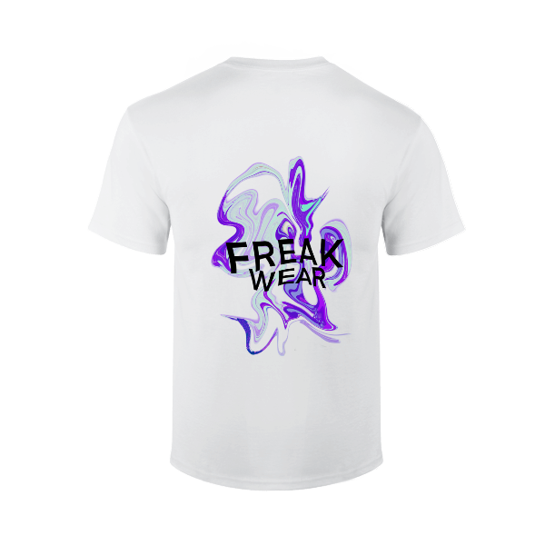 Tričko Freak Wear bíle K Silver Purple