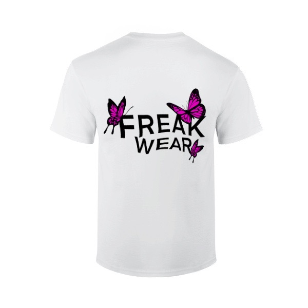 Tričko Freak Wear BL Pink bíle